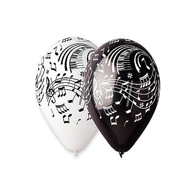Aptafêtes - Bolsita de 100 globos con notas musicales - Modelo BA19921. Diámetro de 30 cm/Circunferencia:105 cm: Juguetes y juegos