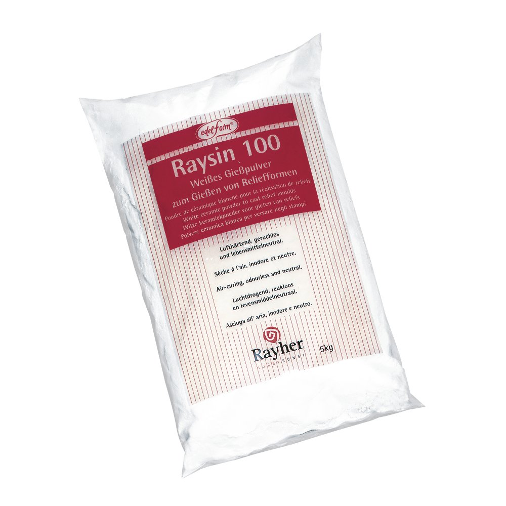 RAYHER Casting Plaster Casting Powder Resin Relief Air Hardening Casting Powder and odourless, especially for Modelling – Pouring Can Be Used For or Figurine, White, Raysin 100/1 kg Rayher Hobby GmbH 3410302