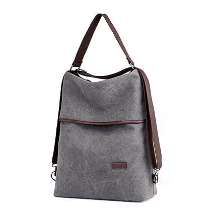 5b53a5f717 Image Unavailable. Image not available for. Color  C-Xka Canvas Shoulder  Bag Handbag Womens Ladies