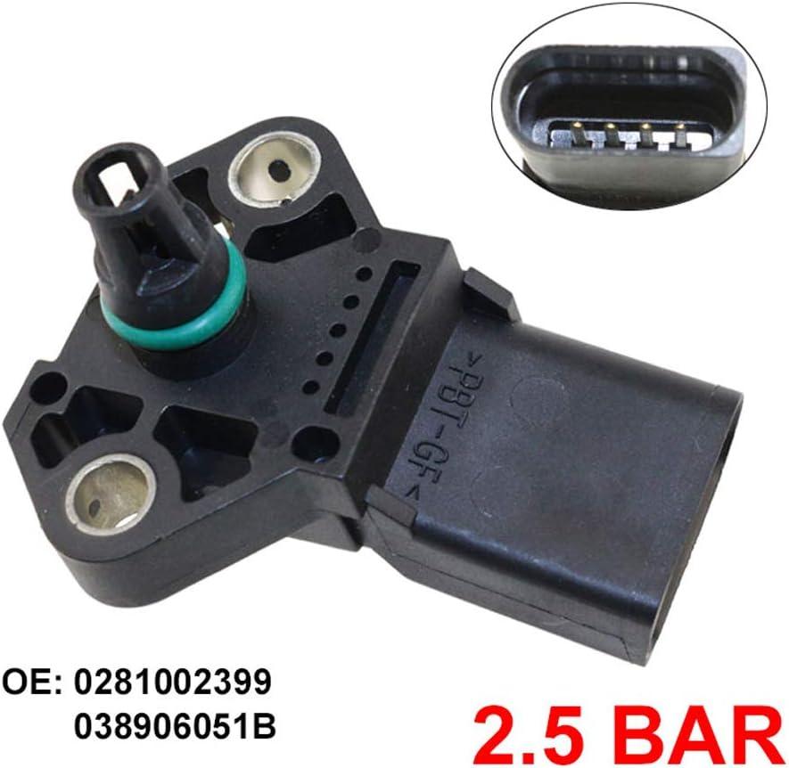 Cghdsf 2 5 Bar Map Sensor Manifold Absolute Turbo Einlass Luftladedrucksensor 0281002399 038906051b Schwarz Sport Freizeit