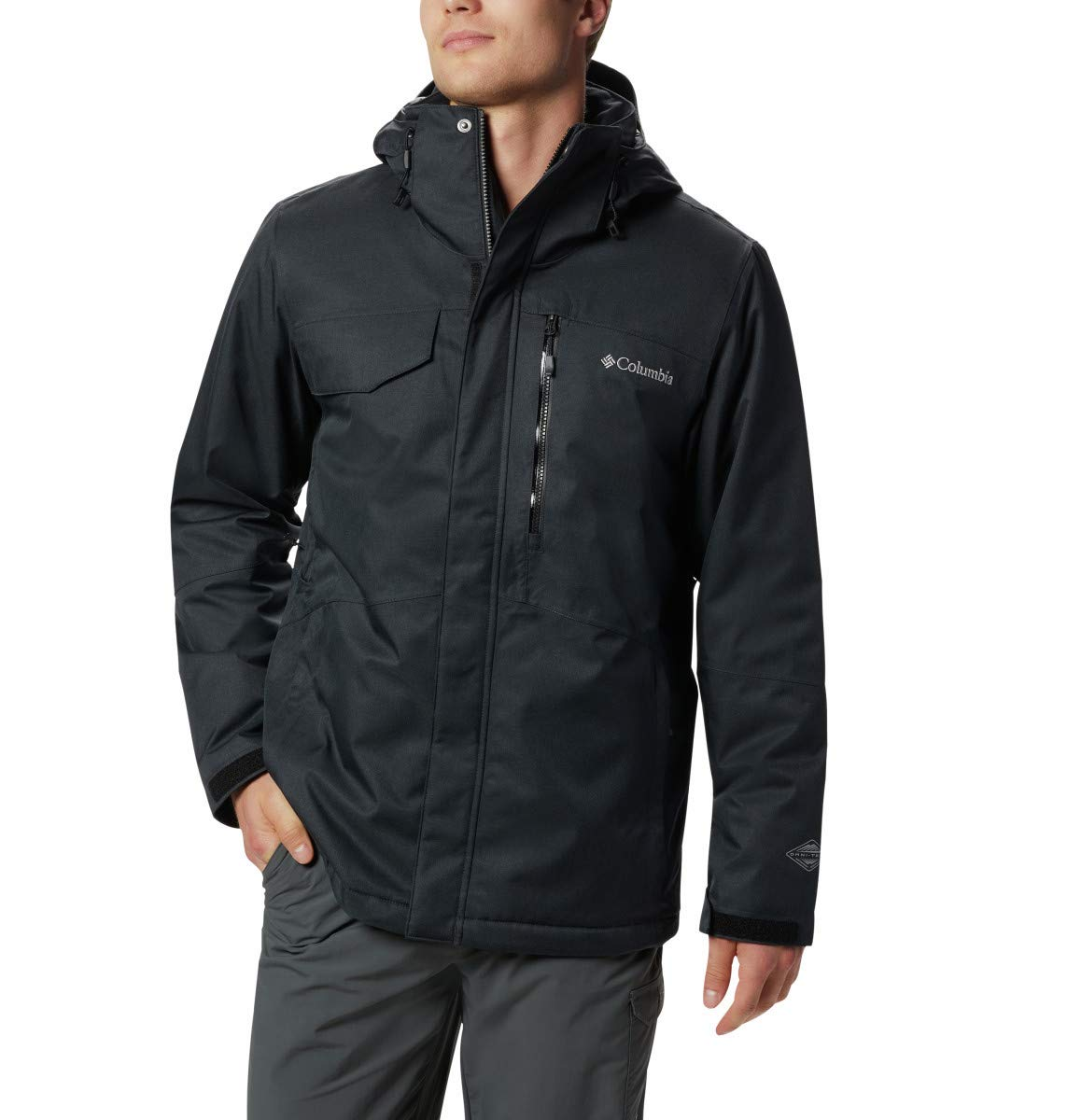 Columbia Men Winter Jacket Cushhomme Crest charcoal heather XL