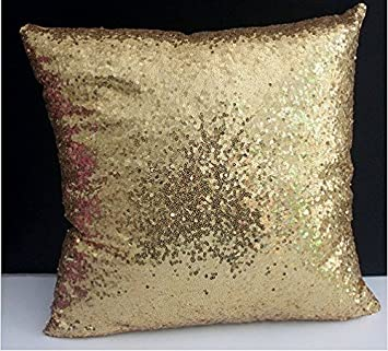 pillows dp decorative inch cover amazon com light throw gold pillow sequin