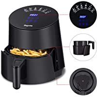 Air Fryer, Bagotte 1500W Fast Cook Airfryer Programmable Base for Air frying & Digital Touch Screen Oil Less Hot Air Fryer Oven Nonstick, Low Fat Electric Air Fryer With Recipes 3.7Qt
