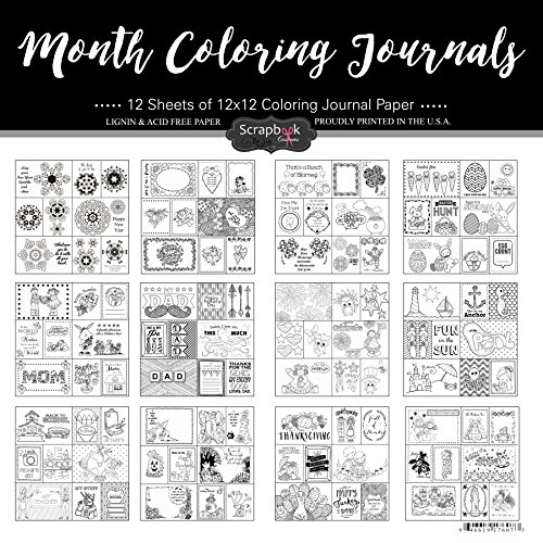 Scrapbook Customs Month Coloring Journals Scrapbook Kit