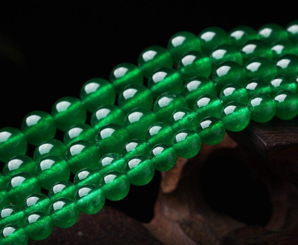 Cuentas dePiedras Preciosas de calcedonia Verde Natural de4 mm-14 mmpara joyería DIY Pulsera, joyería de Piedras Preciosas Finas con Cuentas Strand 15