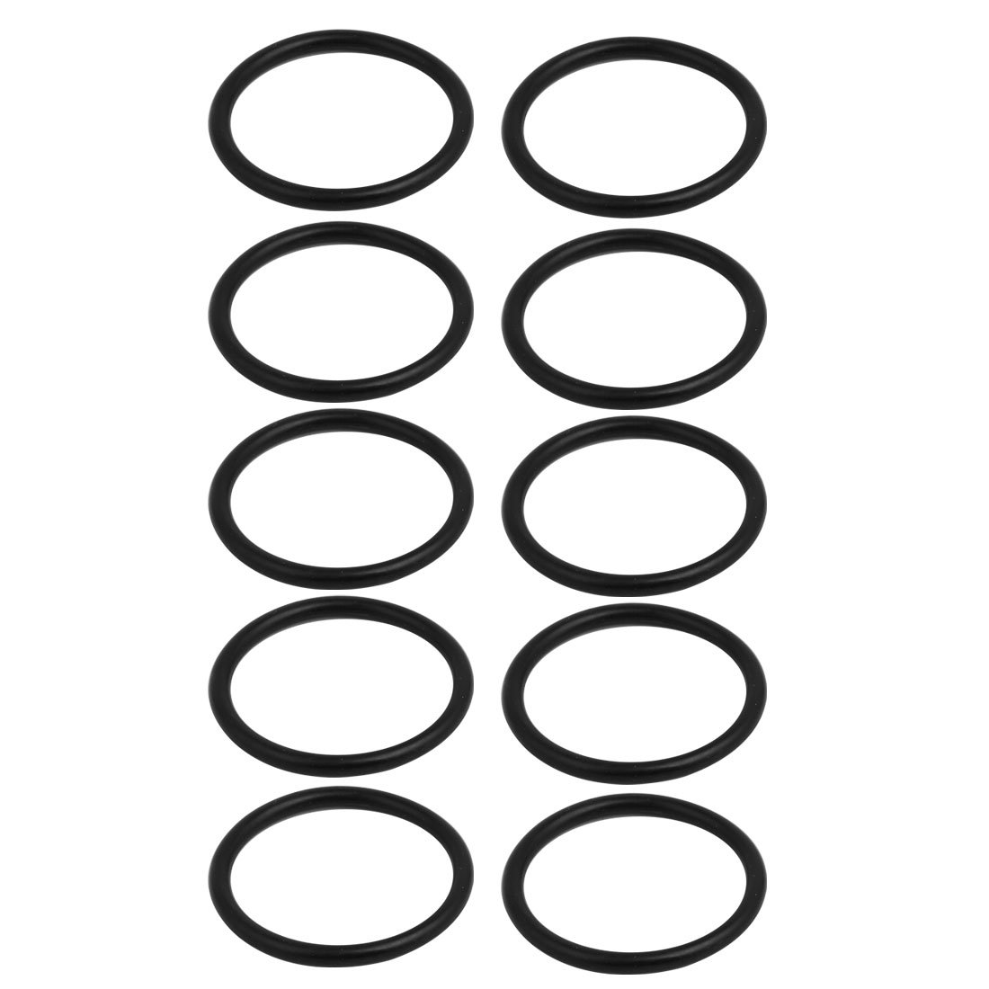 sourcing map 10pcs Junta tó rica de caucho flexible Anillo negro de 60mmx50mm Industrial