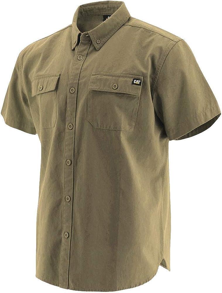 Caterpillar Mens Button Up S//S Shirt Button Down Shirt