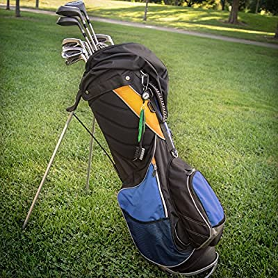 Golf Brush and Club Groove Cleaner - Easily Attaches to Golf Bag - Deep Clean Iron Grooves - Cleaning Club Face - Bag Clip & Retractable Extension Cord & Perfect Gift