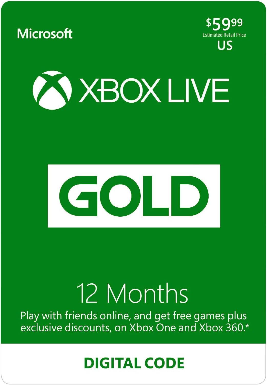 Amazon com: Xbox Live Gold: 12 Month Membership [Digital Code