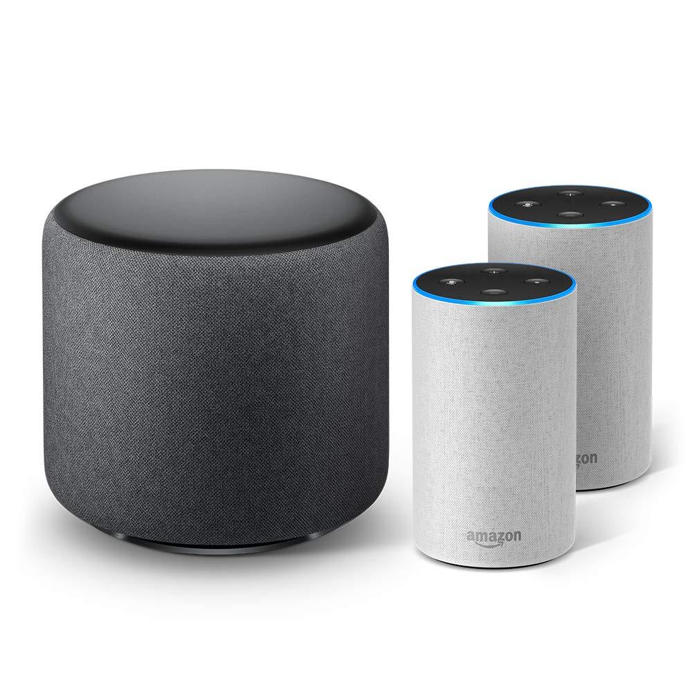 - Smart speaker with Alexa Charcoal Fabric Echo 2nd Generation