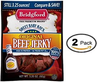 product image for Bridgford Sweet Baby Ray's Original Beef Jerky, 3.25 Oz (Pack of 2)