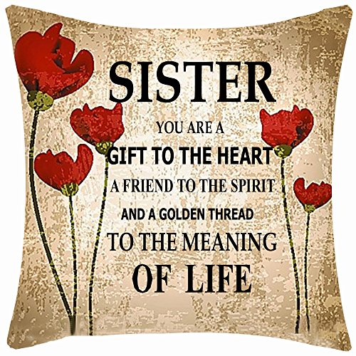 Sister Pillow Throw (Best Gift for Sisters Friend