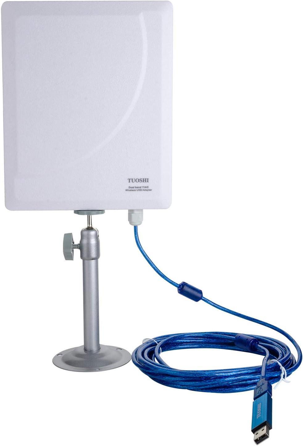TUOSHI - Antena WiFi de Largo Alcance para Exteriores de 2,4 ...