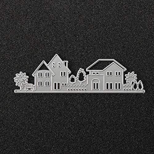 Metal House Cutting Dies Stencil Scrapbook Card Album Paper Embossing Craft Decoration - Photography & Camera Acc Camera Accessories - 1 x House Scrapbooking Dies Cut -