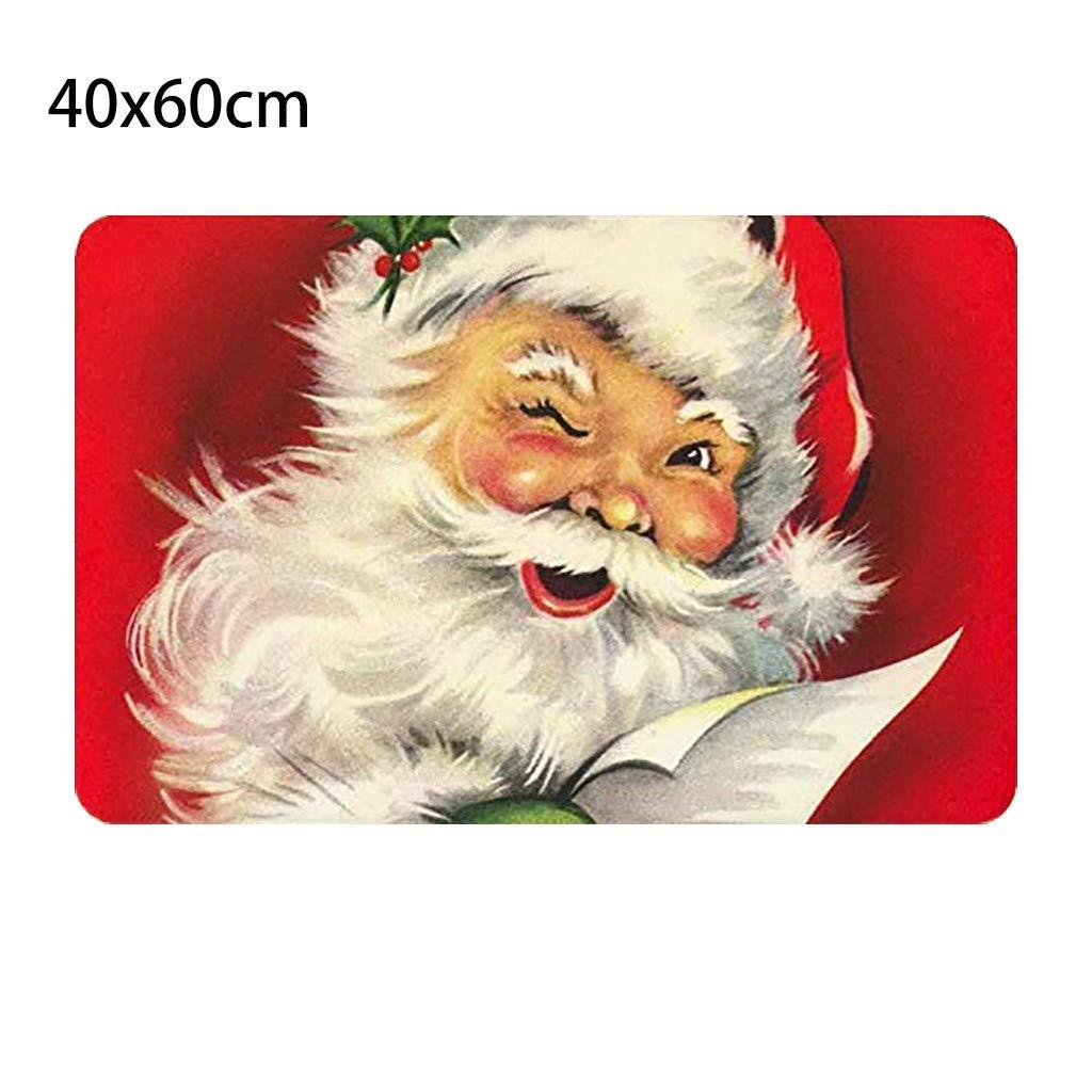 Snlaevx Tappetino per Esterni per Interni Ingresso Tappeto di Benvenuto Stampa di Natale Zerbino Cucina di Natale Bagno Antiscivolo Tappeto Decorativo Tappetino Tappeto Regalo di Natale A
