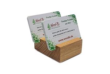 woodbi | tarjeta de visita Soporte de madera - roserne ...