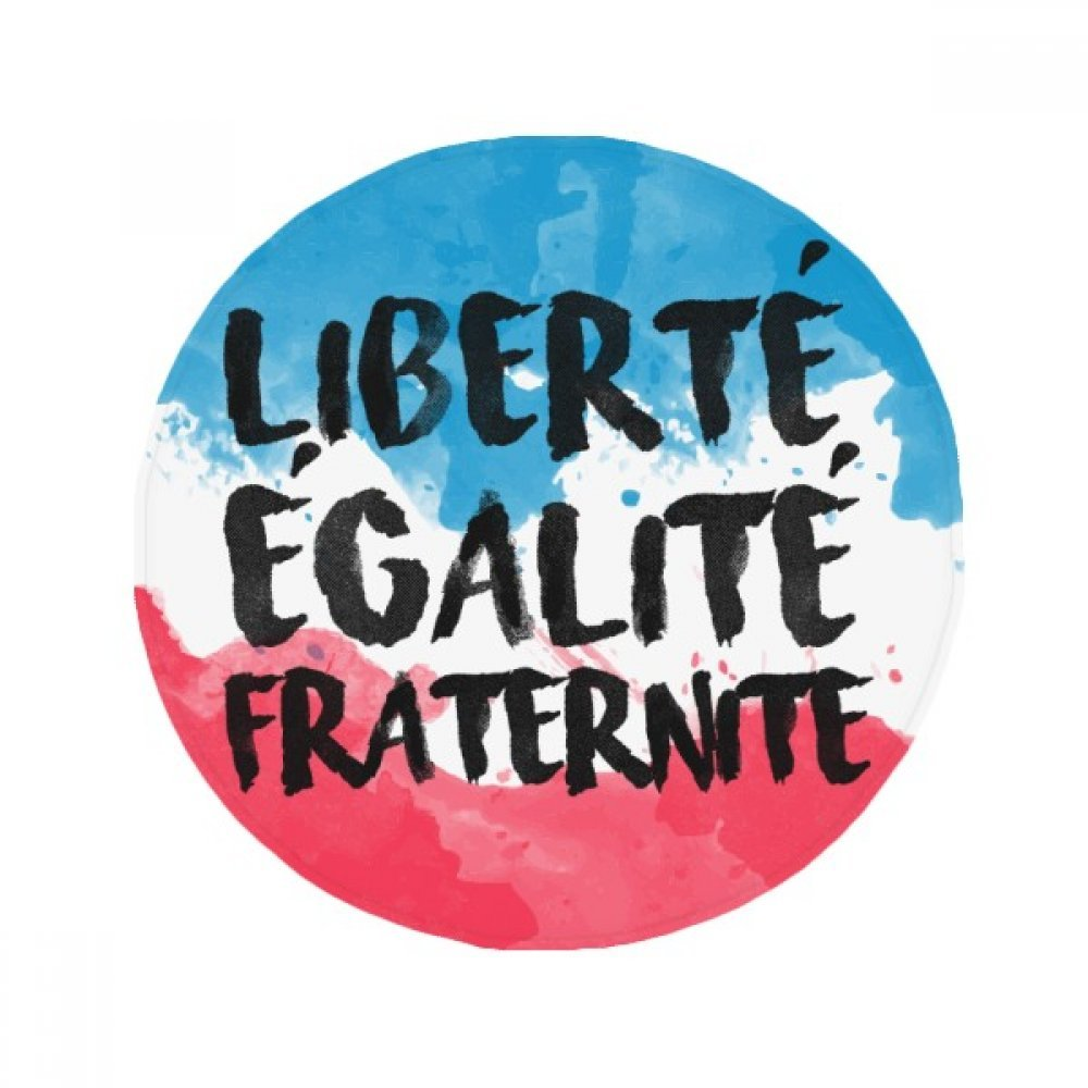 60X60cm DIYthinker Liberte Egalite Fraternite France Mark Flag Anti-Slip Floor Pet Mat Round Bathroom Living Room Kitchen Door 60 50Cm Gift