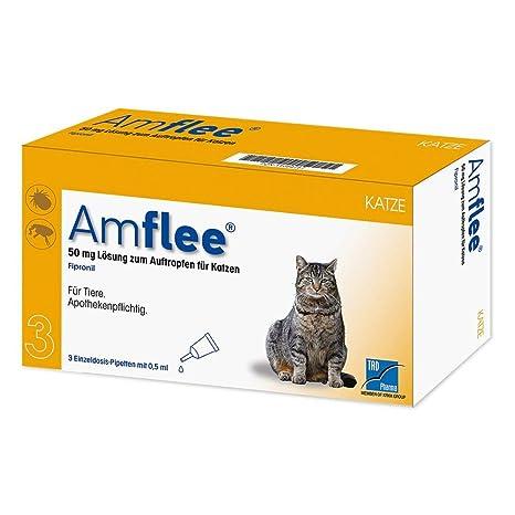 amflee 50 mg gato de dosis único pipetas, 3 unidades: Amazon ...