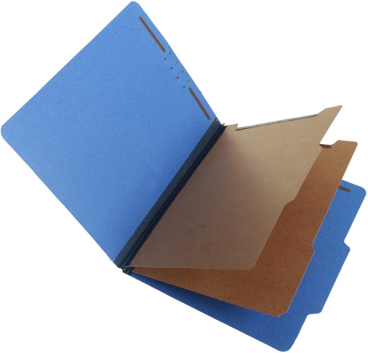 Royal Blue SJ Paper S60403 Match 25 Pt Pressboard Classification Folders Box of 15 2 Dividers 2//5 Cut ROC Top Tab Letter Size