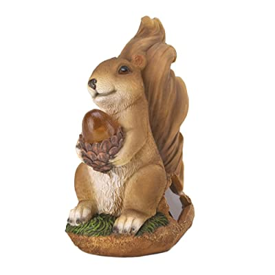 Squirrel Solar Statue : Garden & Outdoor