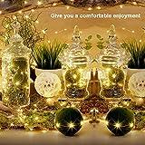 Iskylie 6pcs Christmas 20LED Bottle Lights Decoration Battery Powered Wine Bottle String Lights Ornament for Festival (20Led, Yellow)