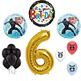 Black Panther Avengers 6th Birthday Party Supplies Balloon Decoration Set