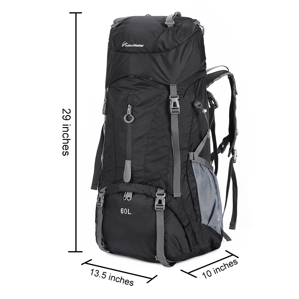 95551473e0 Amazon.com   OutdoorMaster Hiking Backpack 60L - Internal Frame w   Waterproof Rain Cover for Hiking