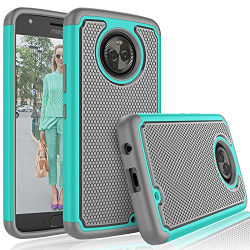Tekcoo for Moto X4 Case / 2017 Motorola Moto X 4th Generation Cute Case, [Tmajor] Shock Absorbing [Turqoise] Rubber Silicone & Plastic Scratch Resistant Bumper Grip Rugged Hard Cases Cover
