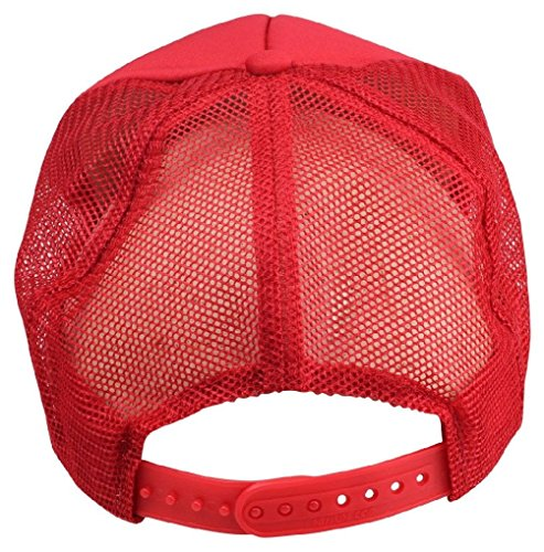 New Youth Trucker Hat Ball Cap Mesh Kids Blank Plain S Xs Red Blue Gray Black White