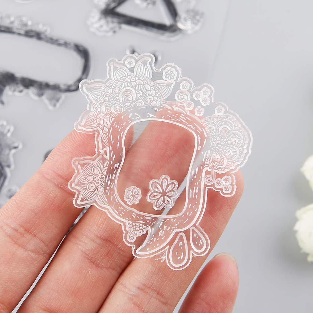 Wiffe Timbro in Silicone Set Timbro Clear Stamps Trasparente