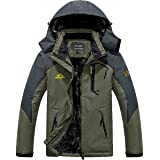 MAGCOMSEN Men's Winter Coats Waterproof Ski Snow Jacket Warm Fleece Jacket Parka Raincoats With Multi-Pockets