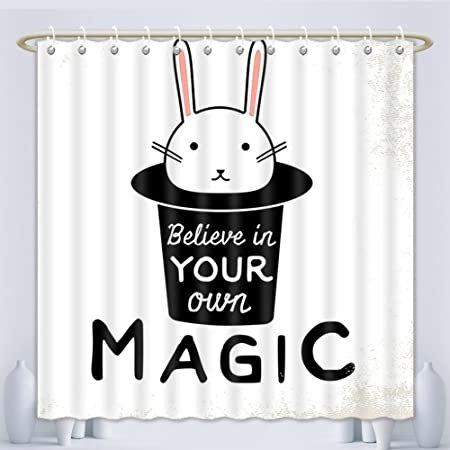 Amsome Unique Custom Shower Curtains Magic Home Decor Collection Believe In Your Own Quite Print