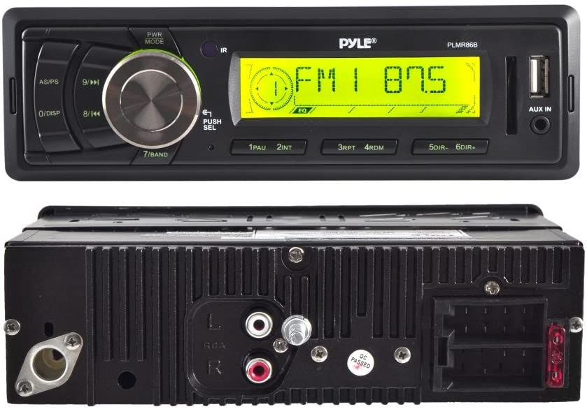 White Water Resistant Radio Shield W// PLMR86B Boat AM//FM Stereo Player Receiver