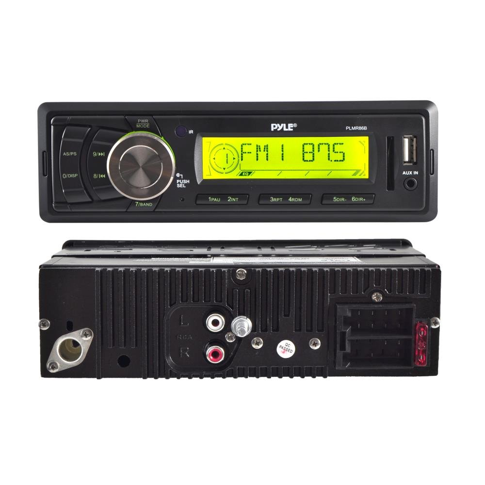 Pyle PLMR88W AM//FM-MPX IN-Dash Marine MP3 Player//USB and SD Card Function