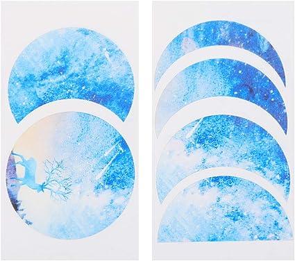 Beyonday Molde de resina epoxi lunar Eclipse molde de resina de fase lunar molde de resina de fase lunar molde de resina moldes de silicona relleno pape-azul