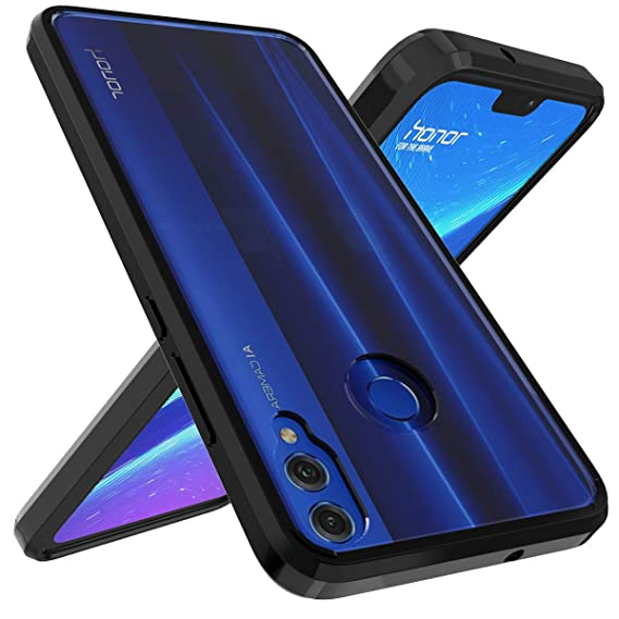 online retailer 824e2 33827 Ouba Huawei Honor 8X Case, [Shock Absorbing] Air Hybrid Slim fit Armor  Shockproof Drop Protection Crystal [Clear] Back Protective Case + TPU  Bumper ...