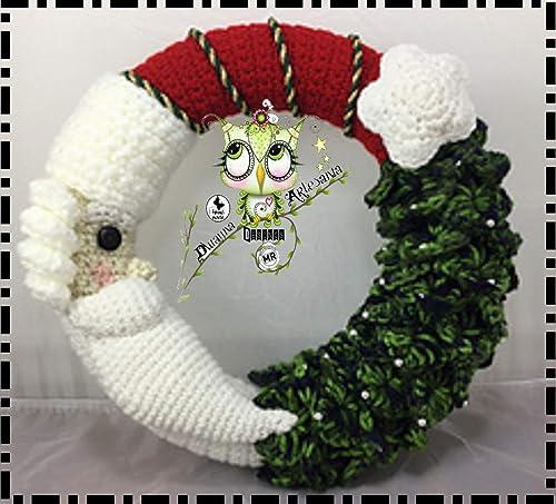 Como hacer corona de Navidad tejida a crochet Christmas decor ... | 453x500