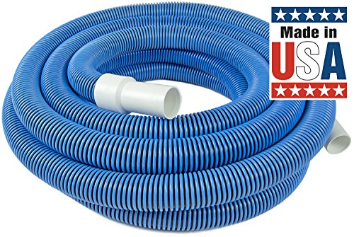 Poolmaster 33430 Heavy Duty In-Ground Pool Vacuum Hose With Swivel Cuff, 1-1/2-Inch by 30-Feet (Dark Side Of The Moon White Vinyl Value)