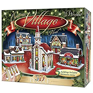Wrebbit 3d Puzzle Christmas Village Puzzle Collection 116 Pezzi Grandi