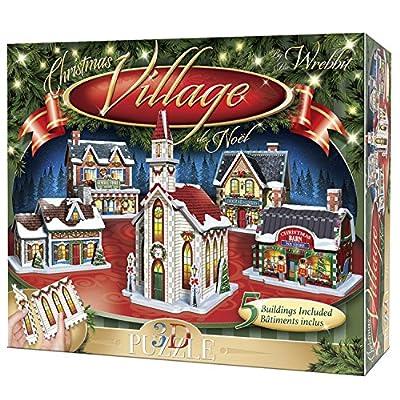 Wrebbit 3d Puzzle Christmas Village Puzzle Collection 116 Pezzi Grandi