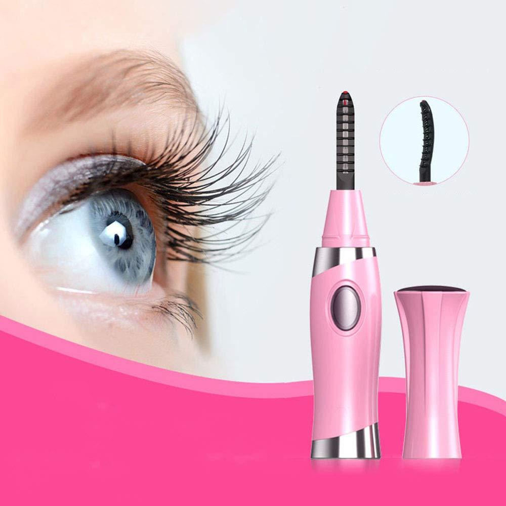QYY USB Electric Eyelash Curler, Mini Rapid Heating Long Lasting Electric Eye Brush, Portable Makeup Eyelash Brush with Comb Safe & Gentle Won't Damage Eyelashes by QYY