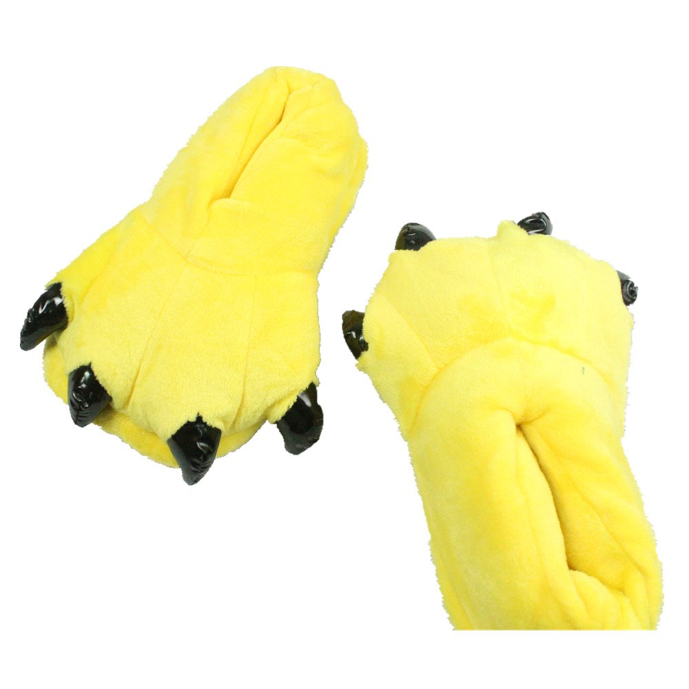 MiziHome Unisex Soft Paw Claw Home Slippers Animal Costume Shoes Yellow S by MiziHome (Image #2)
