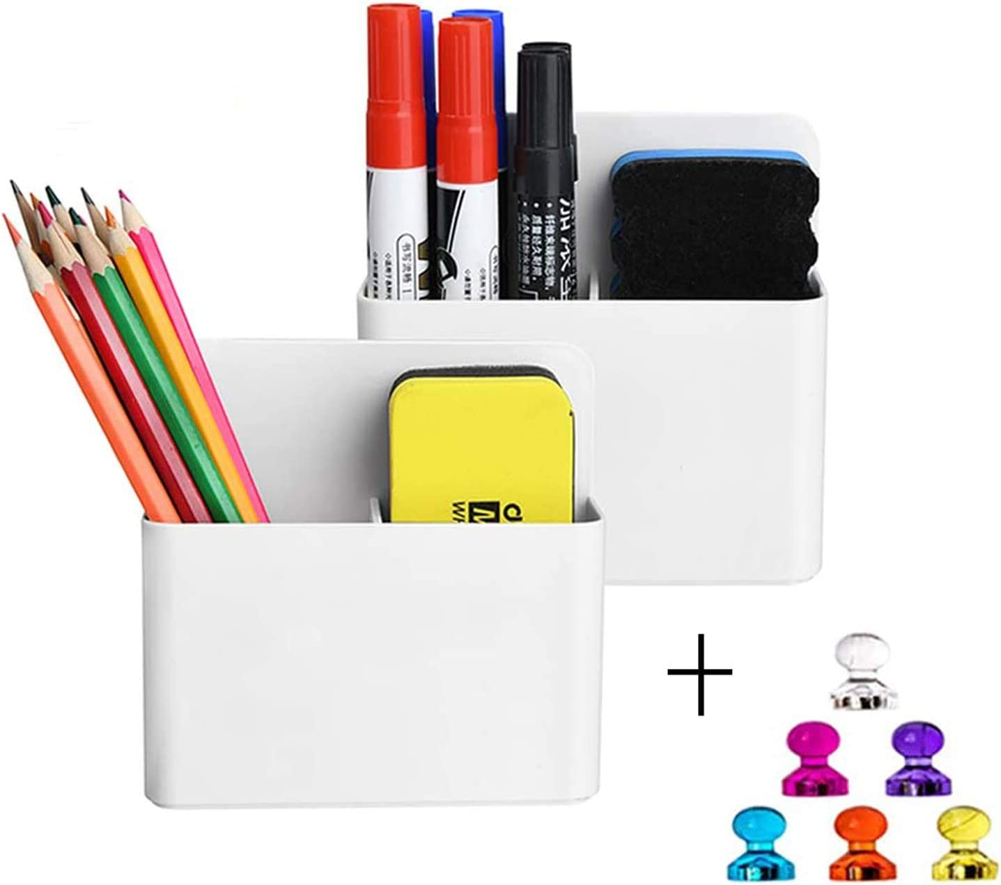 4 X Pen Pens Markers Dry for 4 Color Magnetic Whiteboard Eraser