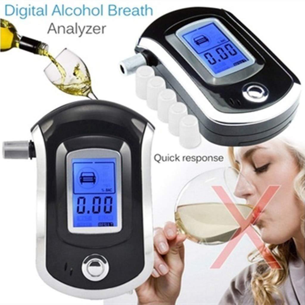 Exing Alcohol/ímetro port/átil Pantalla Digital 10,3 x 6,5 x 2,7 cm Pantalla LCD luz