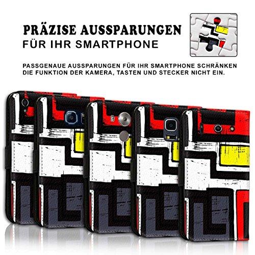 Wallet Book Style Flip Handy Tasche Case Schutz Hülle Schale Motiv Etui für Apple iPhone 6 / 6S - Design Flip MVD198