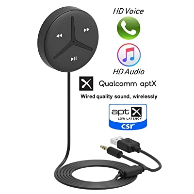 Aston Innovations SoundTek A2+ AptX AAC Codecs HiFi Aux Bluetooth Receiver Car Kit Music Streaming Built in Microphone Handsfree Call Auto On for Cars SUV Trucks and More: Car Electronics