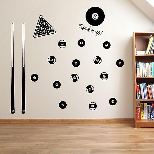 Bolas de billar, juego de billar americano decoraciones de pared ...