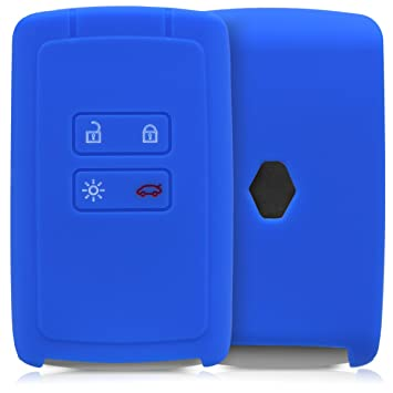 kwmobile Funda de Silicona para Llave Smart Key de 4 Botones para Coche Renault (Solamente Keyless Go) - Carcasa Protectora [Suave] de [Silicona] - ...