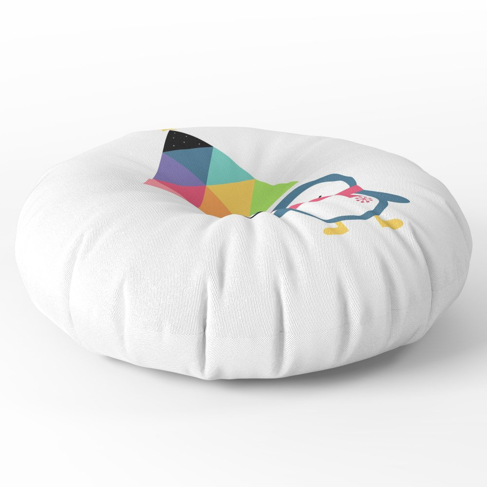 Society6 Everyday Is Holiday Floor Pillow Round 26'' x 26''