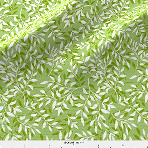 Rambling Vine (Plant Fabric Plain Coordinate For Rambling Vines - Green by Diane555 Printed on Faux Suede Fabric by the Yard by Spoonflower)